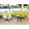Woodard Terrace Crescent Loveseat and Spring Lounge Chair Set - WD-TERRACE-SET2