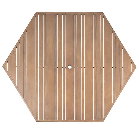 Woodard Tri Slat 60 Inch Hexagonal Top 2662