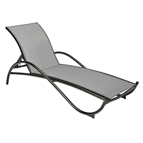 Woodard Tribeca Sling Adjustable Chaise Lounge Stackable