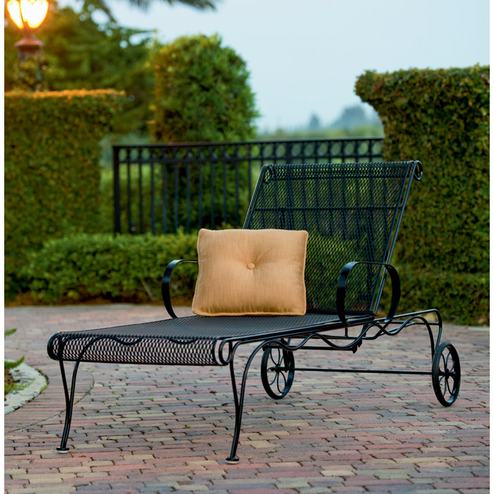 Patio Furniture Sale Tucson: Woodard Tucson Wrought Iron Adjustable Chaise Lounge