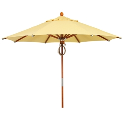 Woodard 9 Foot Octagonal Fiberbuilt Deluxe Wood Market Umbrella - 1490WDRPW