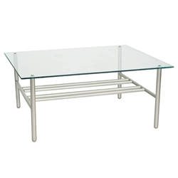 Woodard Uptown Glass Top Coffee Table - 2H0043