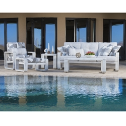 Woodard Vale Upholstered Patio Sofa Set