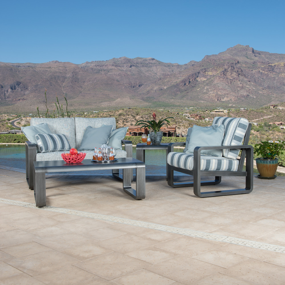 Incroyable Woodard Vale Love Seat Aluminum Deep Seating Patio Set   WD VALE SET2