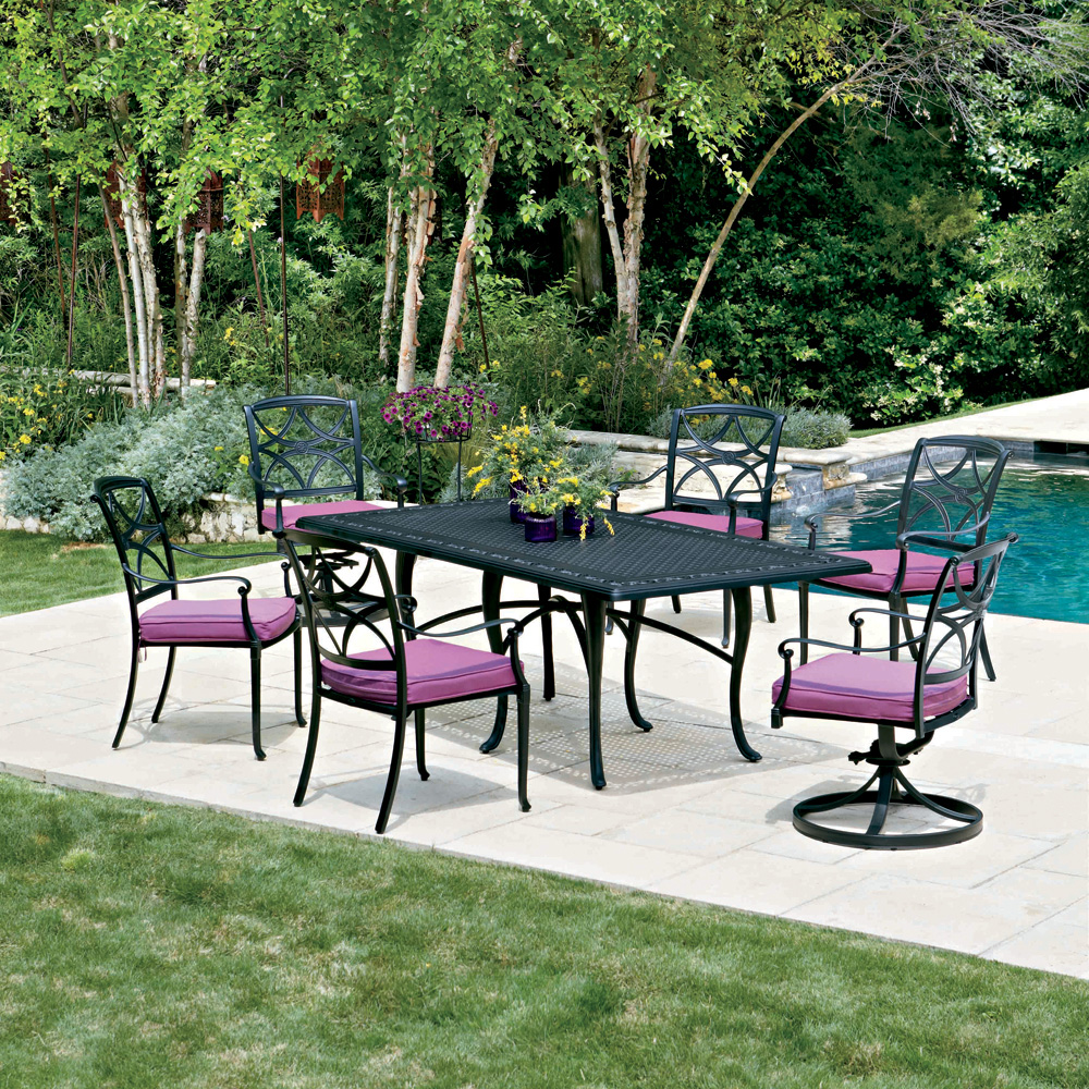Woodard Wiltshire 7 Piece Patio Dining Set