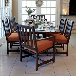 Woodard Woodlands Patio Dining Set for 6 - WD-WOODLANDS-SET3