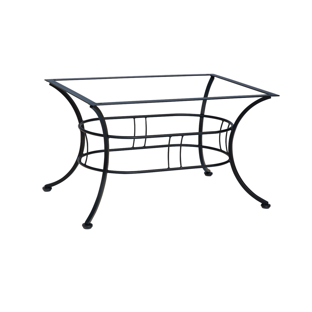 Woodard universal dining table base 88f336 for Outdoor table bases wrought iron