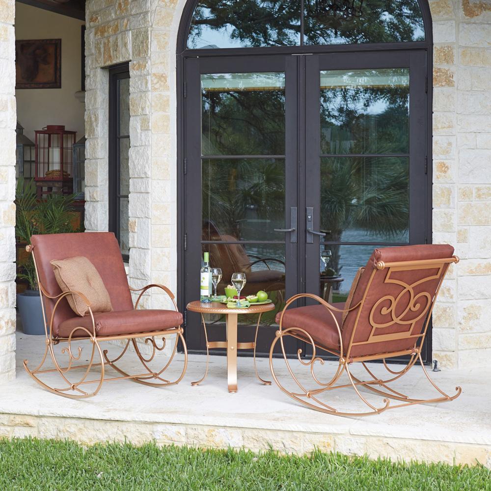 Woodard wellington rocker 670013 for Outdoor furniture wellington