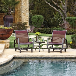 Woodard Wyatt Flex 3 Piece Spring Lounge Chair Set - WD-WYATTFLEX-SET3