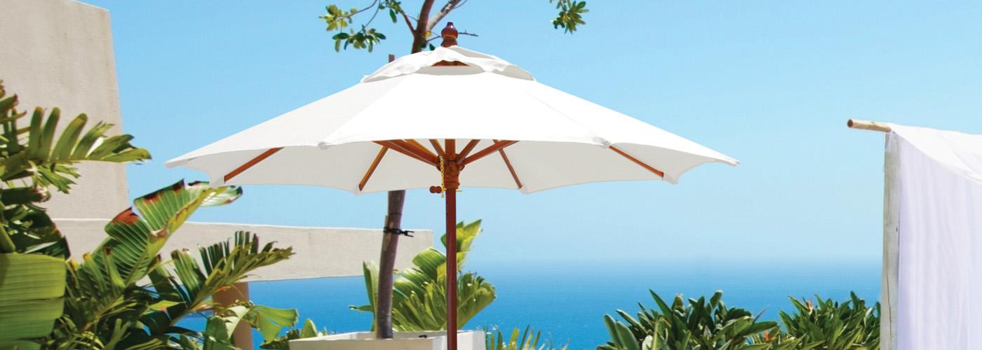 Galtech Wood Market Umbrellas