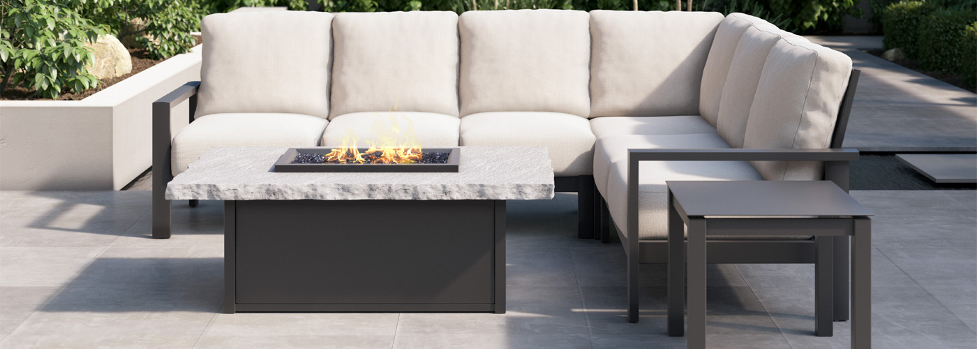 Homecrest Slate Fire Tables Collection