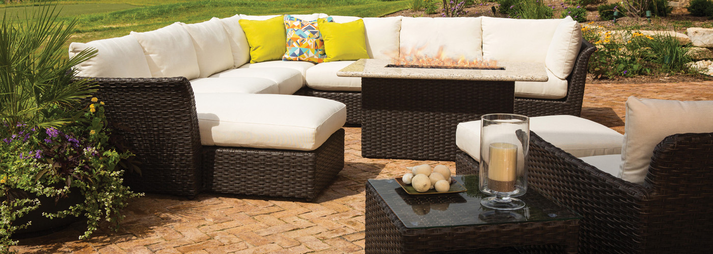 Lloyd Flanders Flair Collection Woven Vinyl Wicker Furniture