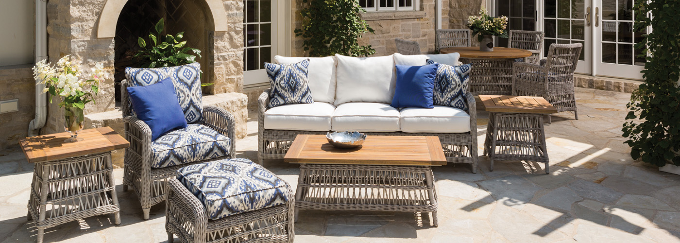 Lloyd Flanders Mackinac Collection Woven Vinyl Wicker Furniture - Lloyd flanders outdoor furniture