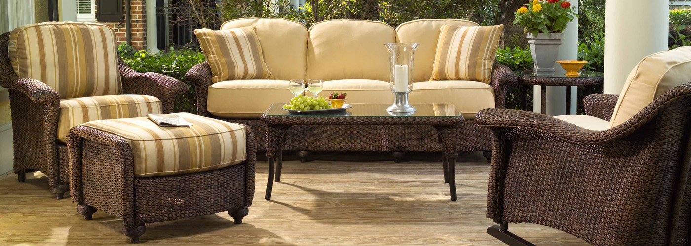 Lloyd Flanders Oxford Collection Lloyd Loom Wicker Furniture - Lloyd flanders outdoor furniture