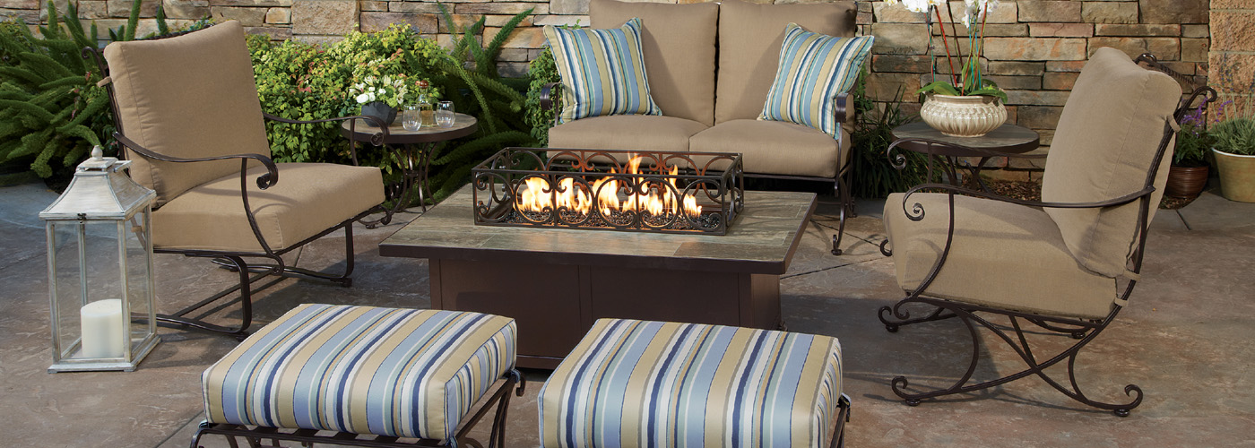ow lee bellini wrought iron outdoor furniture