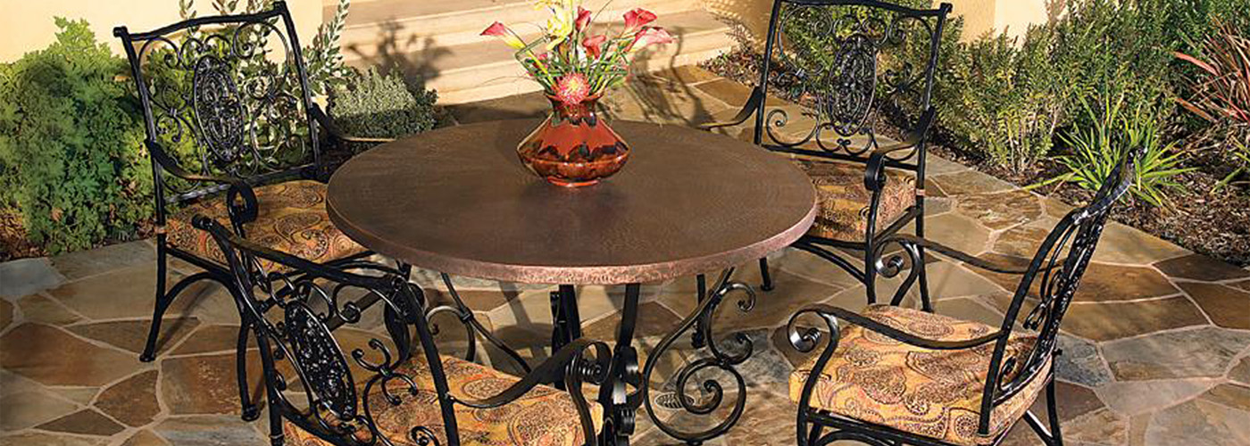 OW Lee Hammered Copper Table Tops - OW Lee Hammered Copper Table Tops USA Outdoor Furniture