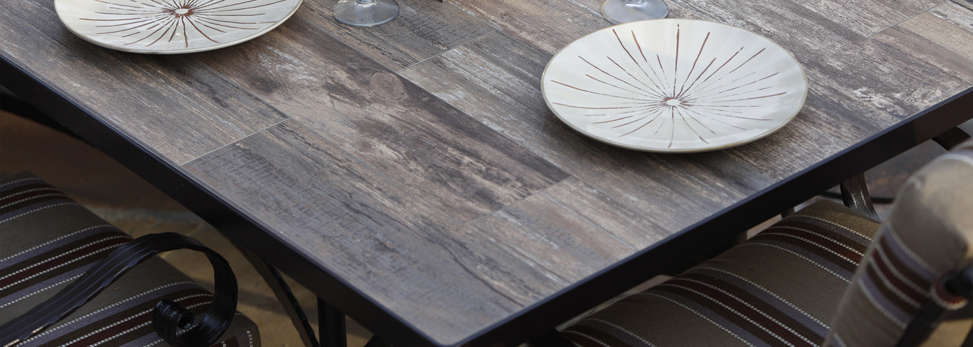 Ow Lee Reclaimed Porcelain Tile Table Tops Usa Outdoor