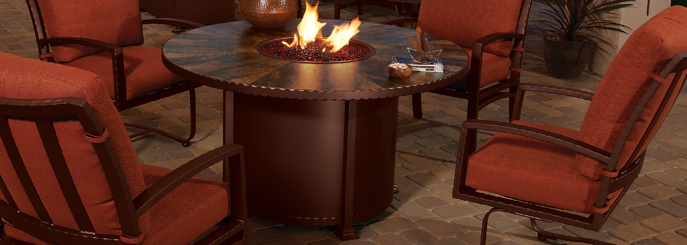 ow lee santorini fire pit tables usa outdoor furniture