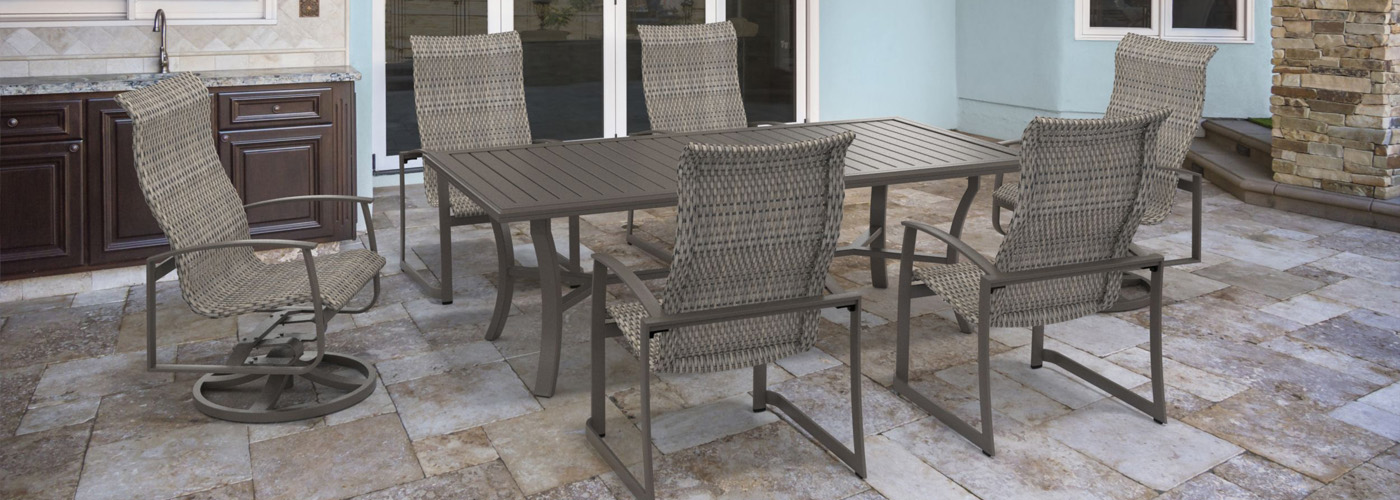 Tropitone Mainsail Woven Wicker Outdoor Furniture Collection