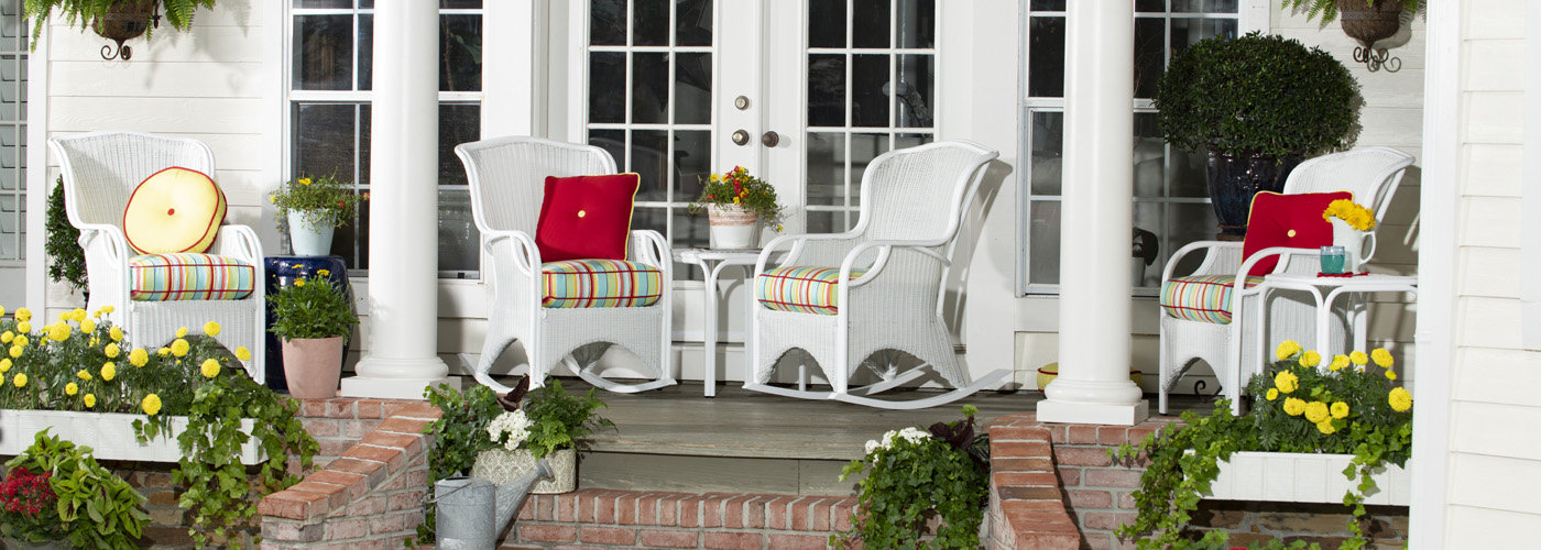 Woodard Heirloom White Wicker Collection