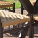 Low Country Vinyl Wicker Porch Swing - 77019