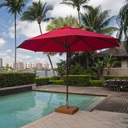 Bambrella Levante 13 Foot Round Umbrella - 40m-R-L