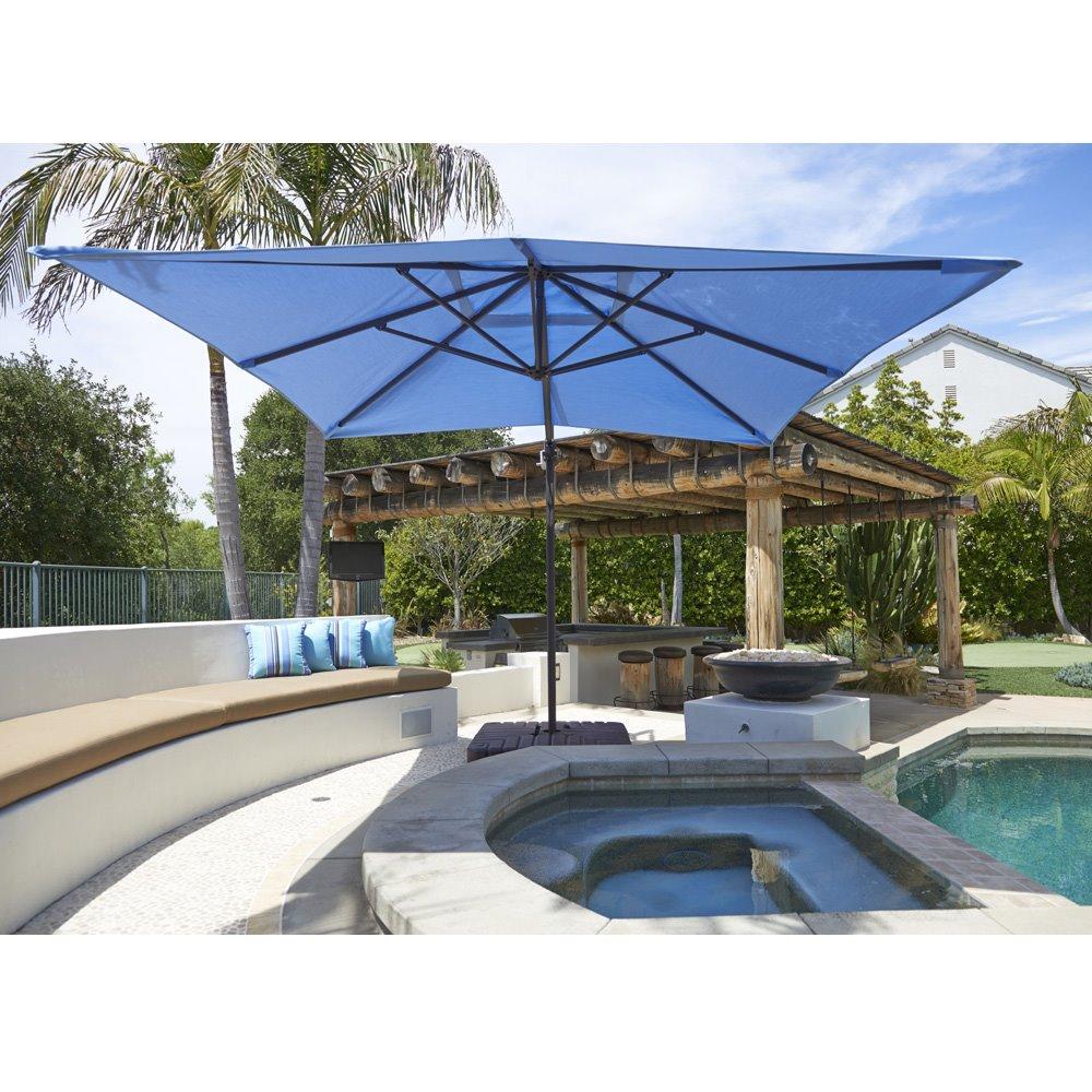 California Umbrella Cali Series 10\' Square Cantilever Patio Umbrella