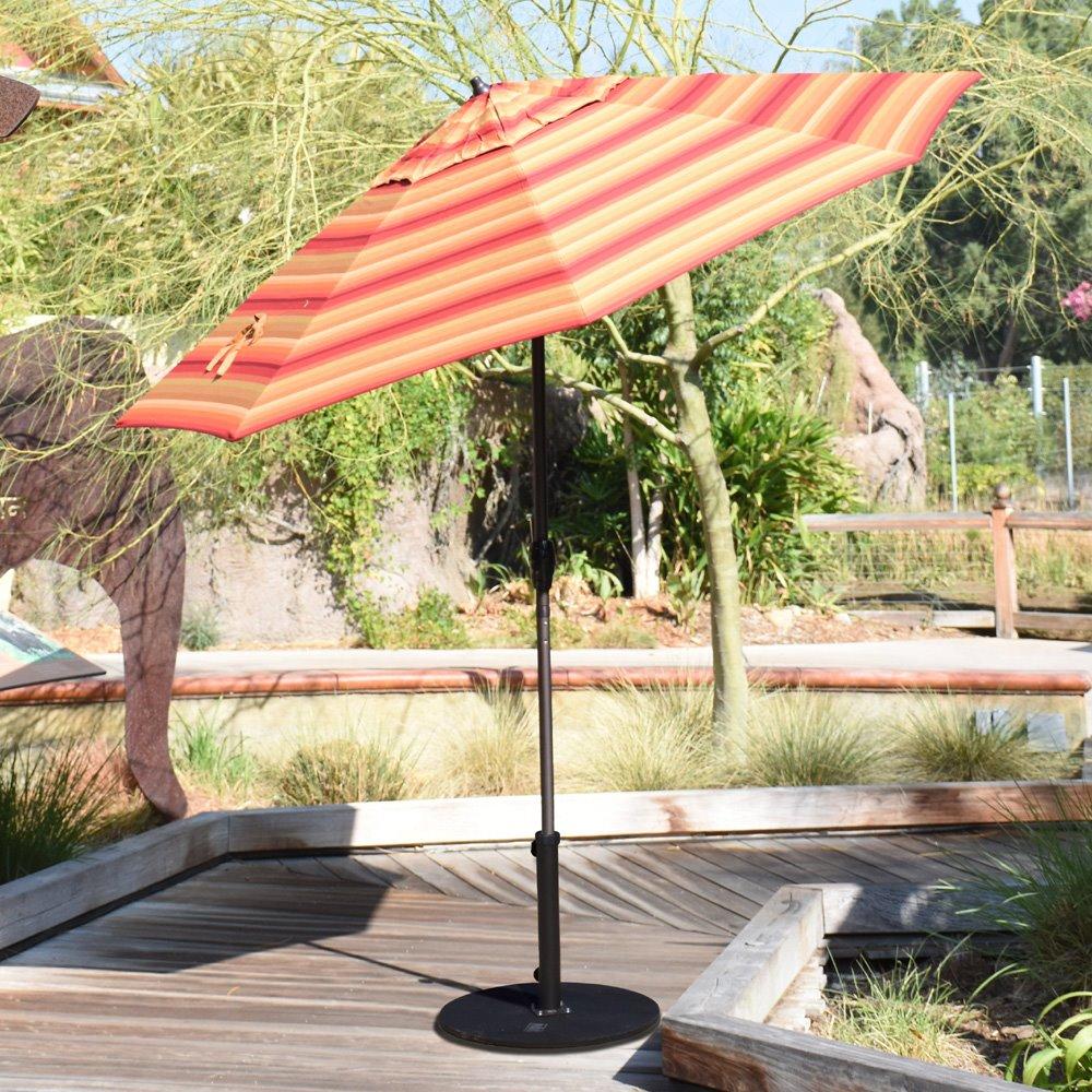 7a839ba09588 California Umbrella Casa Series 9' Aluminum Patio Umbrella with Auto Tilt