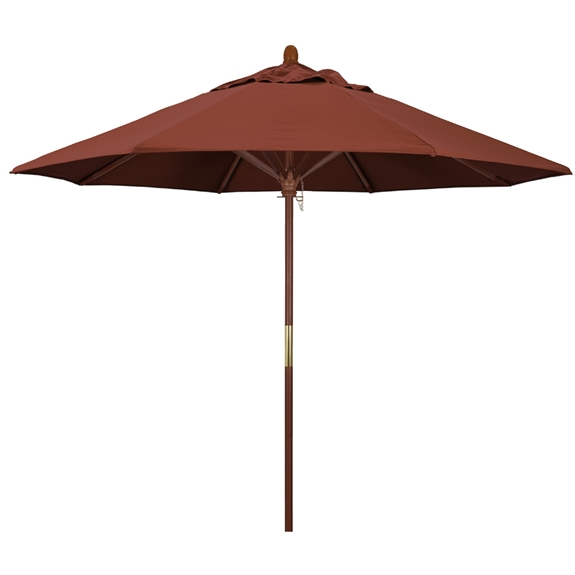 a0cc728b71fba California Umbrella Grove Series 9' Wood Patio Table Umbrella | MARE908