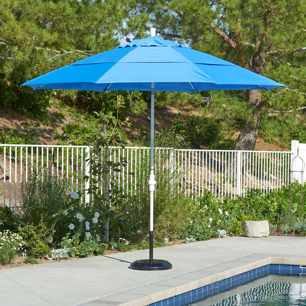 3240523b9cc2d California Umbrella Sun Master 11ft Umbrella - GSCUF118 · Aluminum pole outdoor  umbrella ...