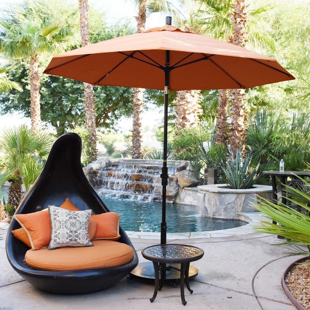 e5b98ead0a97 California Umbrella Sun Master 9' Umbrella with Fiberglass Ribs and Tilt