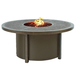 "Castelle Altra 49"" Round Coffee Table with Firepit - TCF48WL"