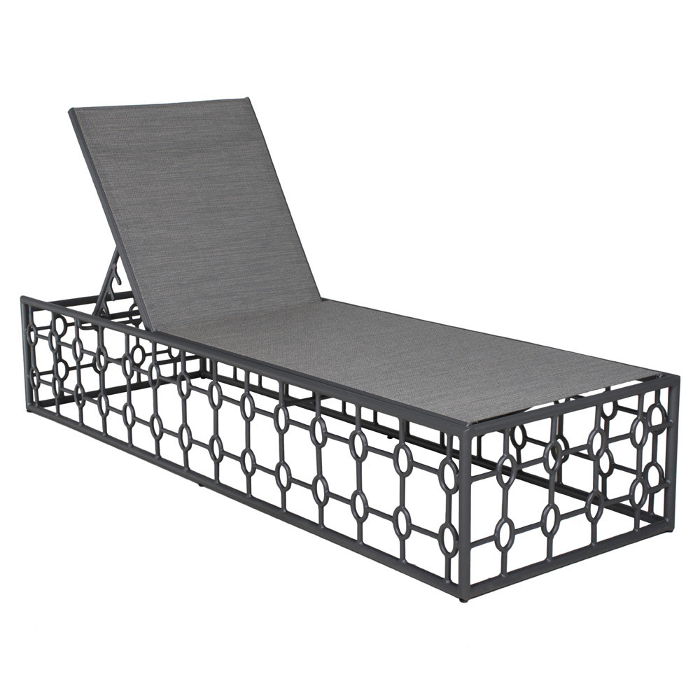 Castelle Barclay Butera Savannah Adjustable Sling Chaise Lounge - 0B92S