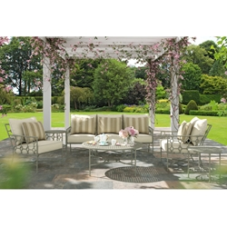 Castelle Barclay Butera Savannah Outdoor Patio Set with Sofa and Lounge Chairs - CS-SAVANNAH-SET2