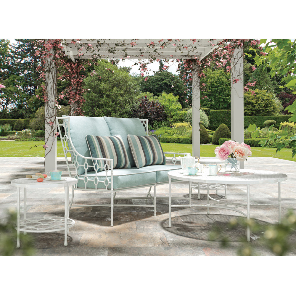 Castelle Barclay Butera Savannah Wing Loveseat and Table Set - CS-SAVANNAH-SET3