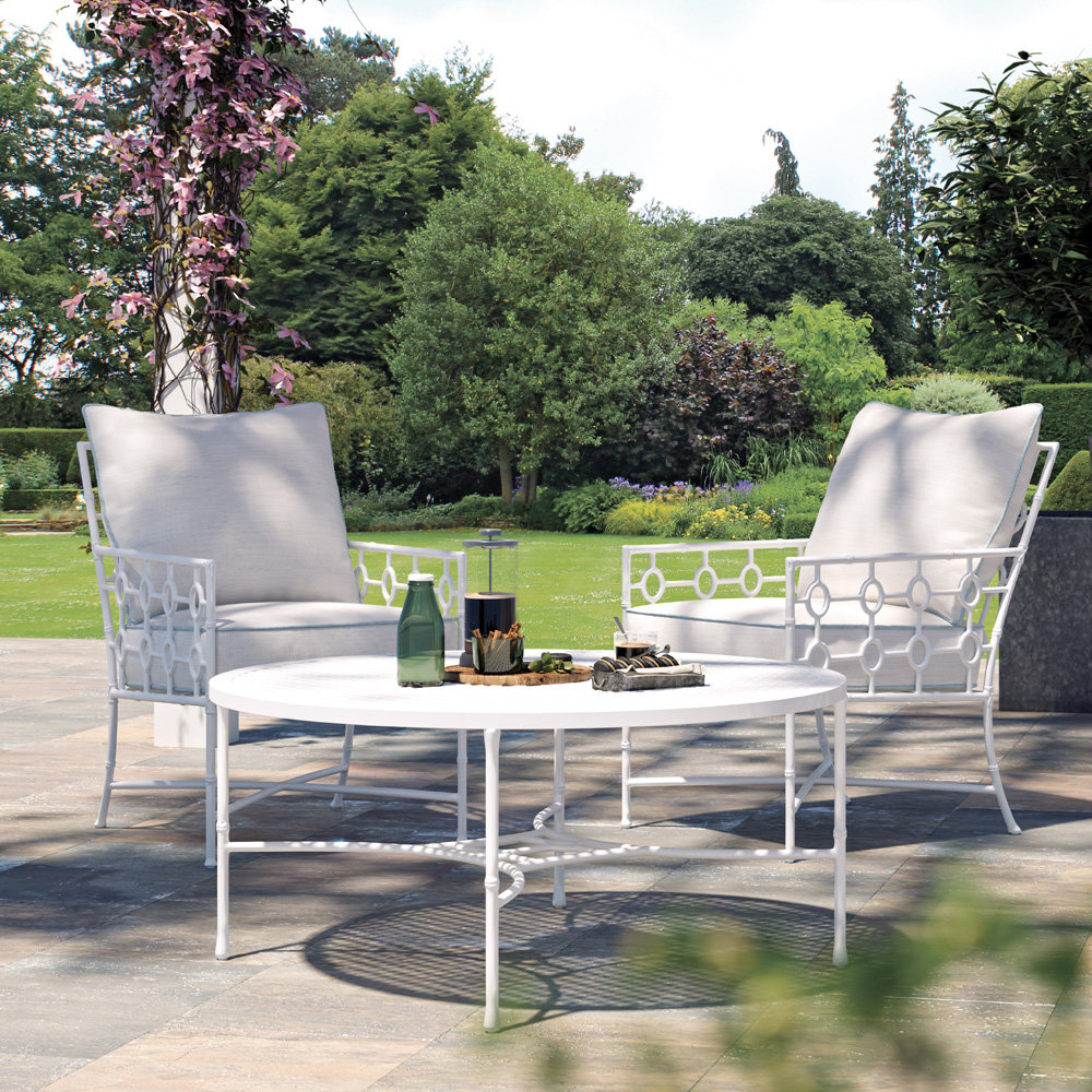 Castelle Barclay Butera Savannah Set of Two Lounge Chairs with Table - CS-SAVANNAH-SET5