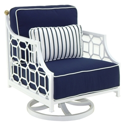 Castelle Barclay Butera Signature Cushioned Lounge Swivel Rocker - 6215T