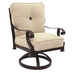 Castelle Bellagio Cushioned Swivel Rocker Dining Chair - 2607T