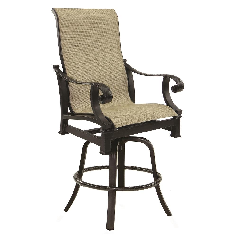 Castelle Bellagio High Back Sling Swivel Counter Stool - 2699MS