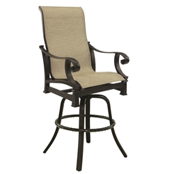 Castelle Bellagio High Back Sling Swivel Bar Stool - 2699S