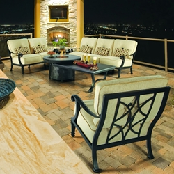 Castelle Bellagio Outdoor Furniture Set with Firepit Table - CS-BELLAGIO-SET3