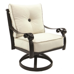 Castelle Bella Nova Cushioned Swivel Rocker Dining Chair - 5407T