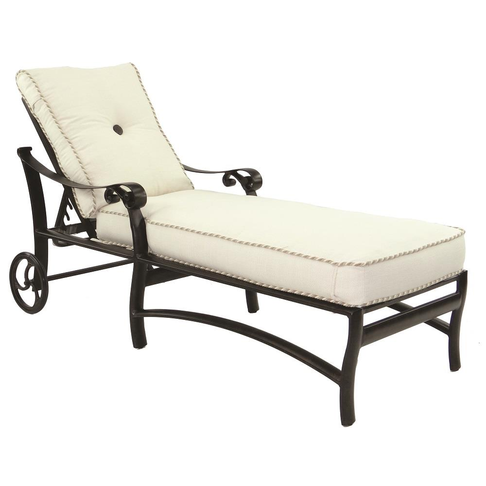 Castelle Bella Nova Adjustable Cushioned Chaise Lounge with Wheels - 5412T