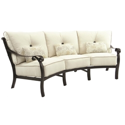 Castelle Bella Nova Cushioned Crescent Sofa - 5444T