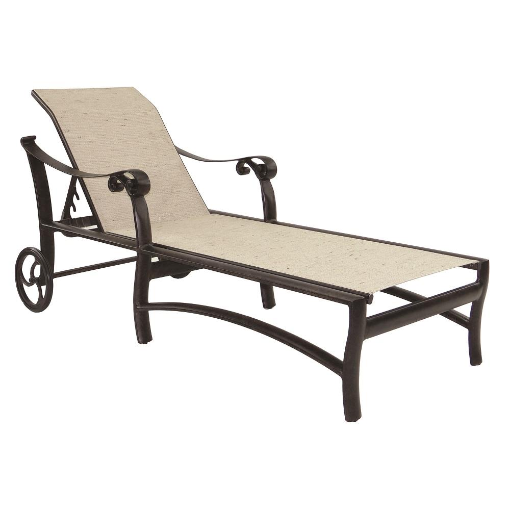 Castelle Bella Nova Adjustable Sling Chaise Lounge with Wheels - 5492S