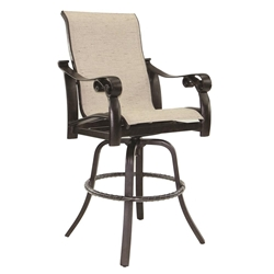 Castelle Bella Nova High Back Sling Swivel Bar Stool - 5499S