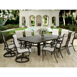 Castelle Bella Nova Sling Outdoor Dining Set for 10 - CS-BELLANOVA-SET4
