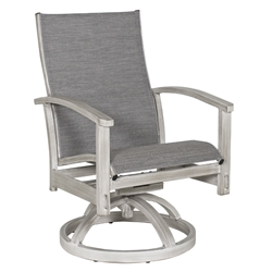 Castelle Biltmore Antler Hill Sling Swivel Rocker Dining Chair - 0A78S