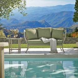 Castelle Biltmore Antler Hill Outdoor Daybed and Side Table Set - CS-ANTLERHILL-SET3