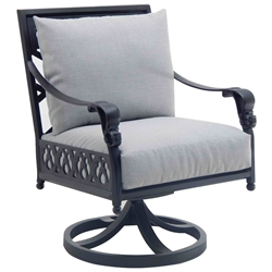 Castelle Biltmore Estate Cushioned Swivel Rocker Dining Chair - 9A07R